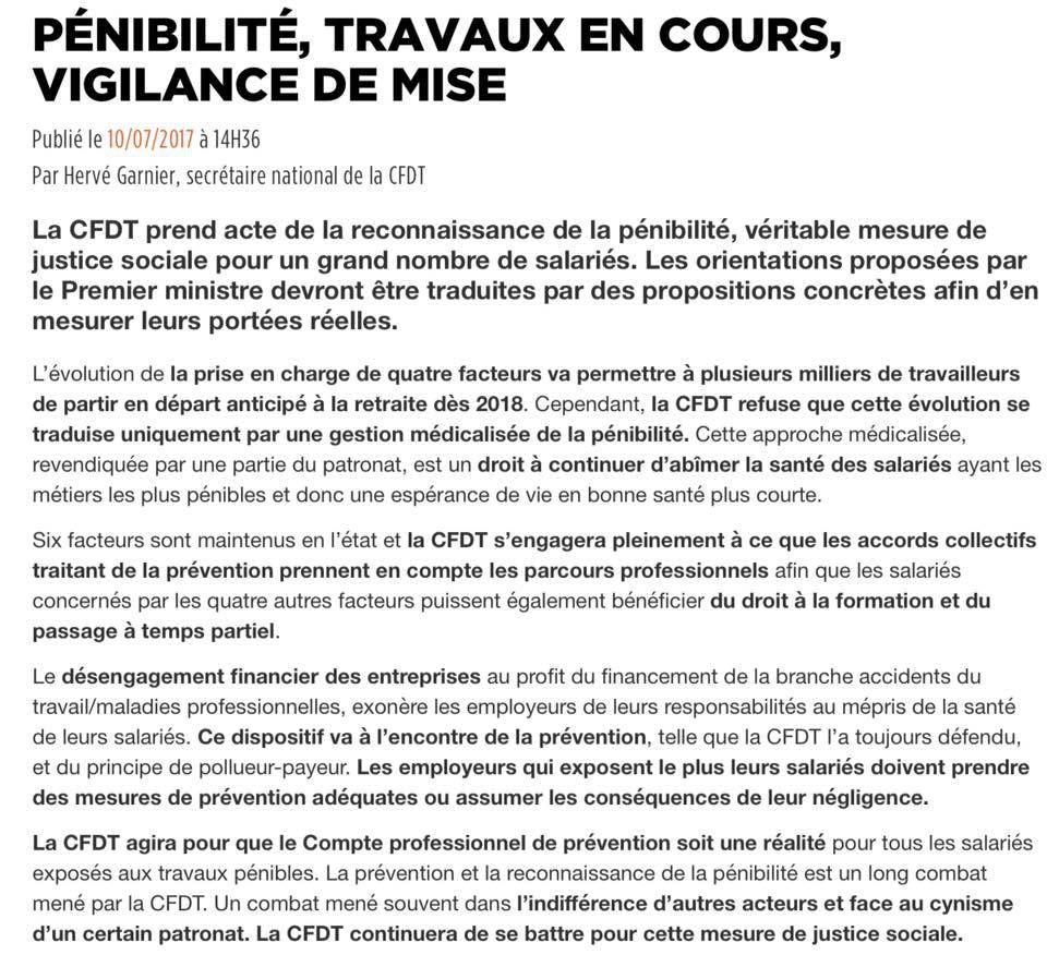 PENIBILITE: VIGILANCE DE MISE- MALADIES PROFESSIONNELLES EN HAUSSE....