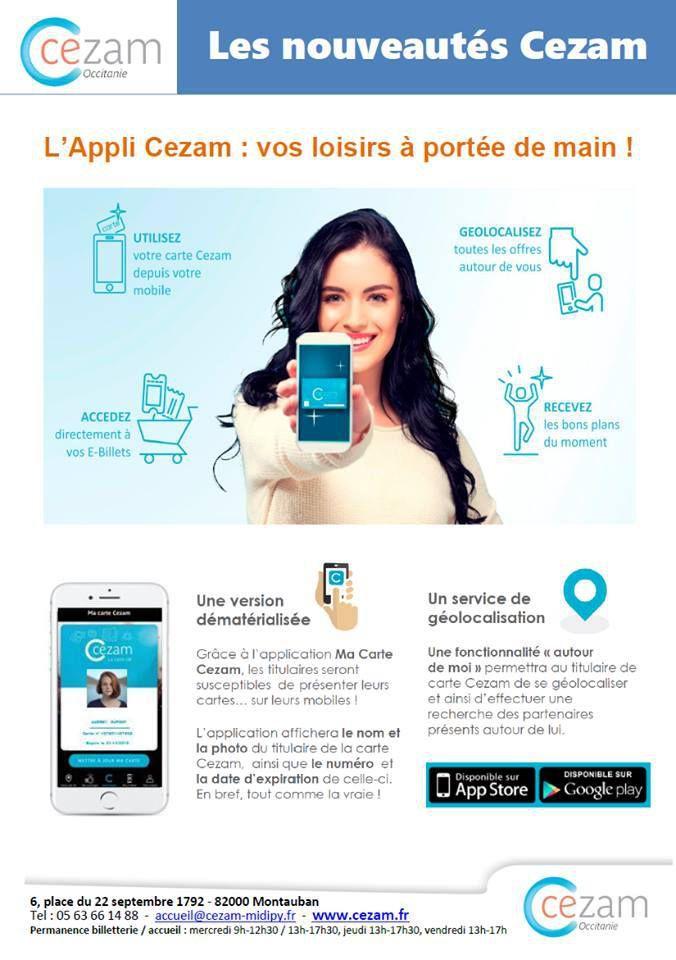 Carte Cezam Billetterie.Carte Cezam 2019 Dematerialisee Et Bientot Un Site Unique Cezam