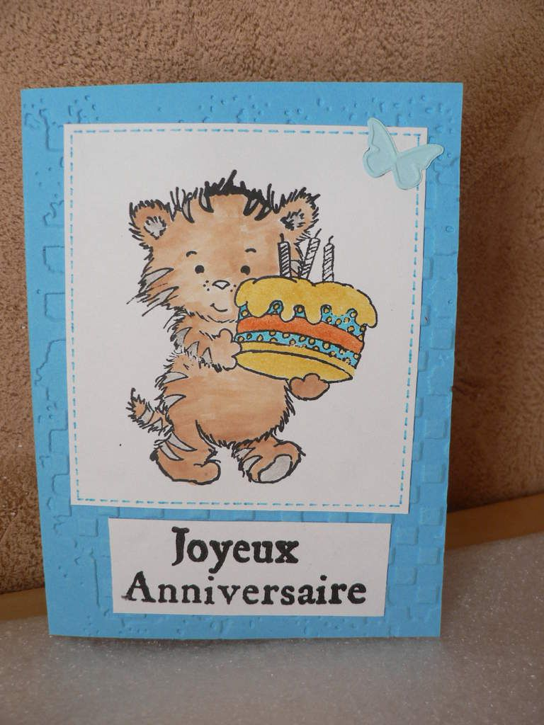carte anniversaire chat