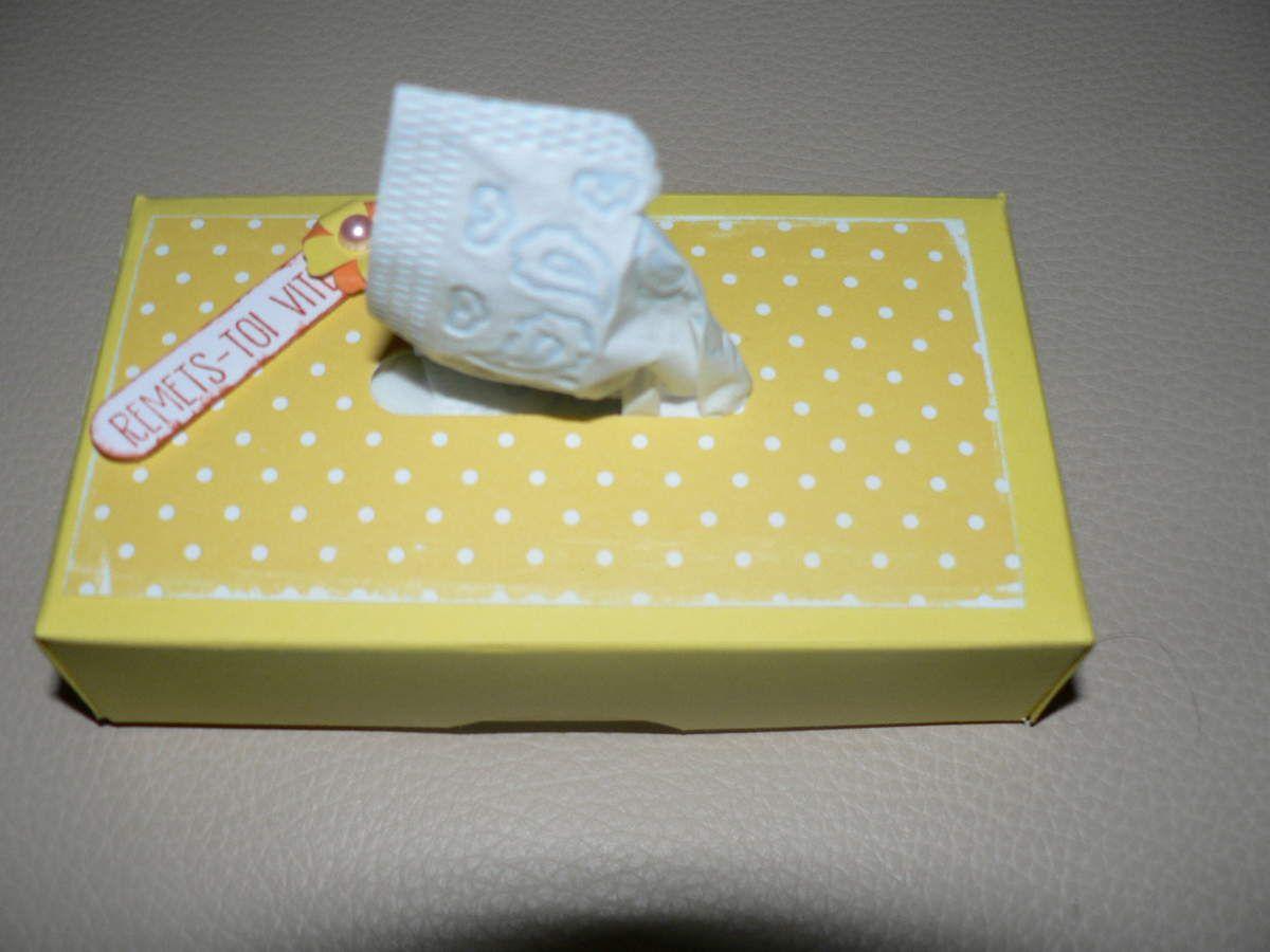 mini boite à mouchoirs en papier stampin up