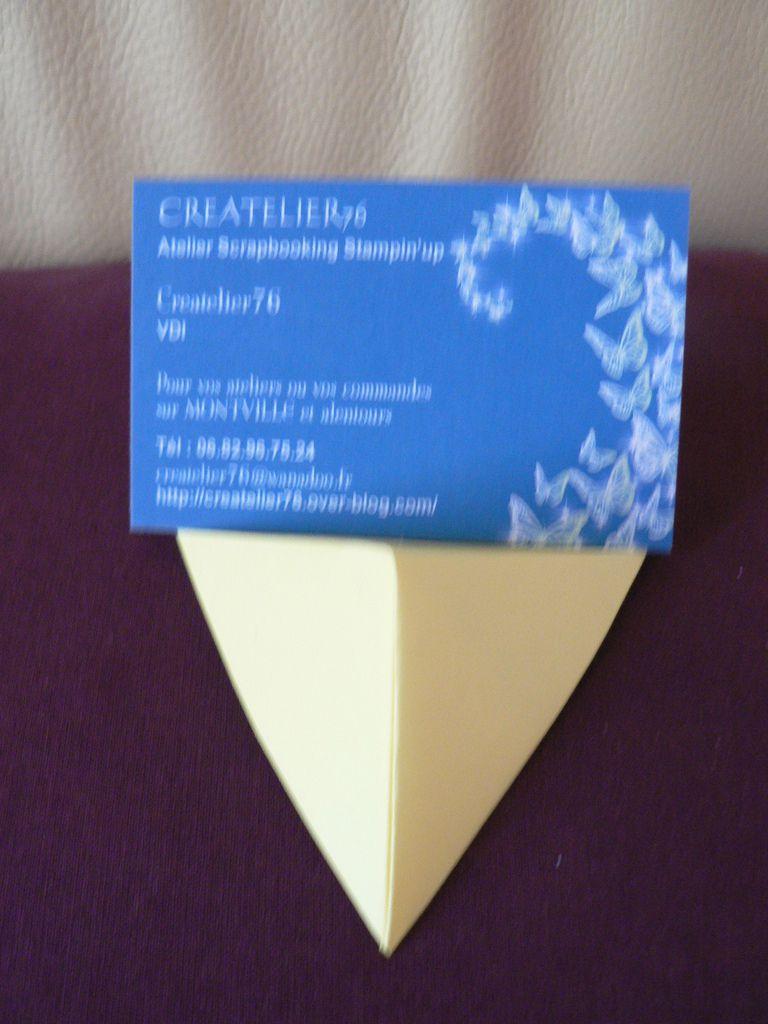 Projet origami support carte de visite