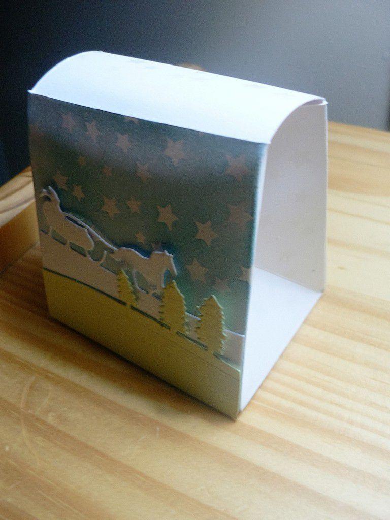 boite de noël avec l'insta pochette de stampin up