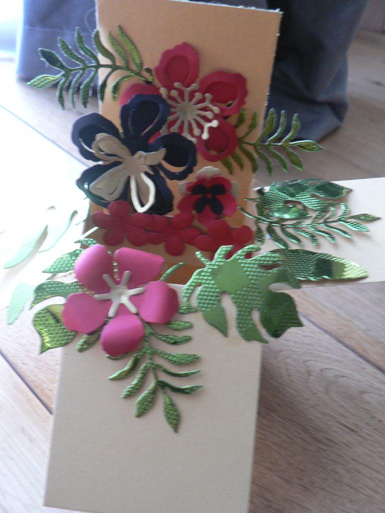 carte boite pop up botanical builder Framelits