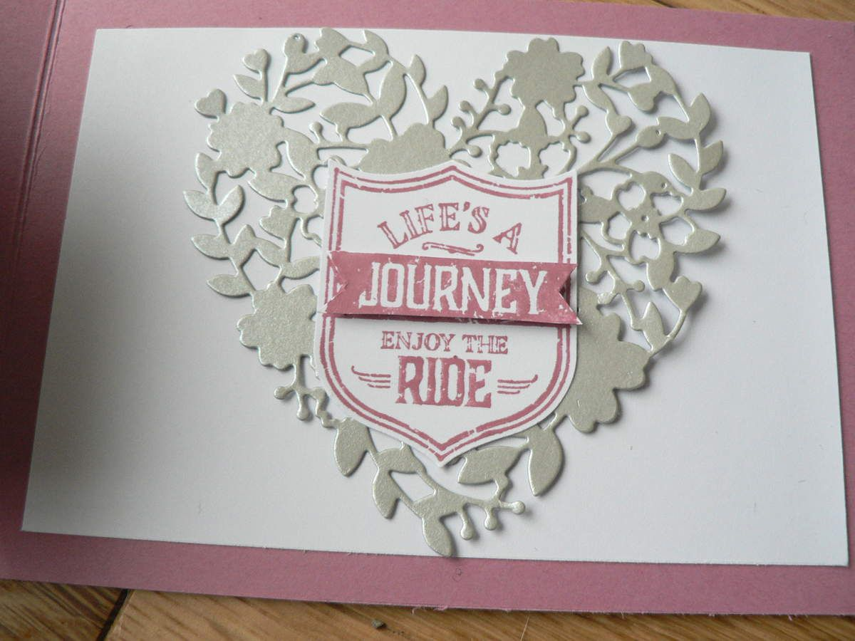 carte &quot&#x3B;born to ride&quot&#x3B; stampin'up fille