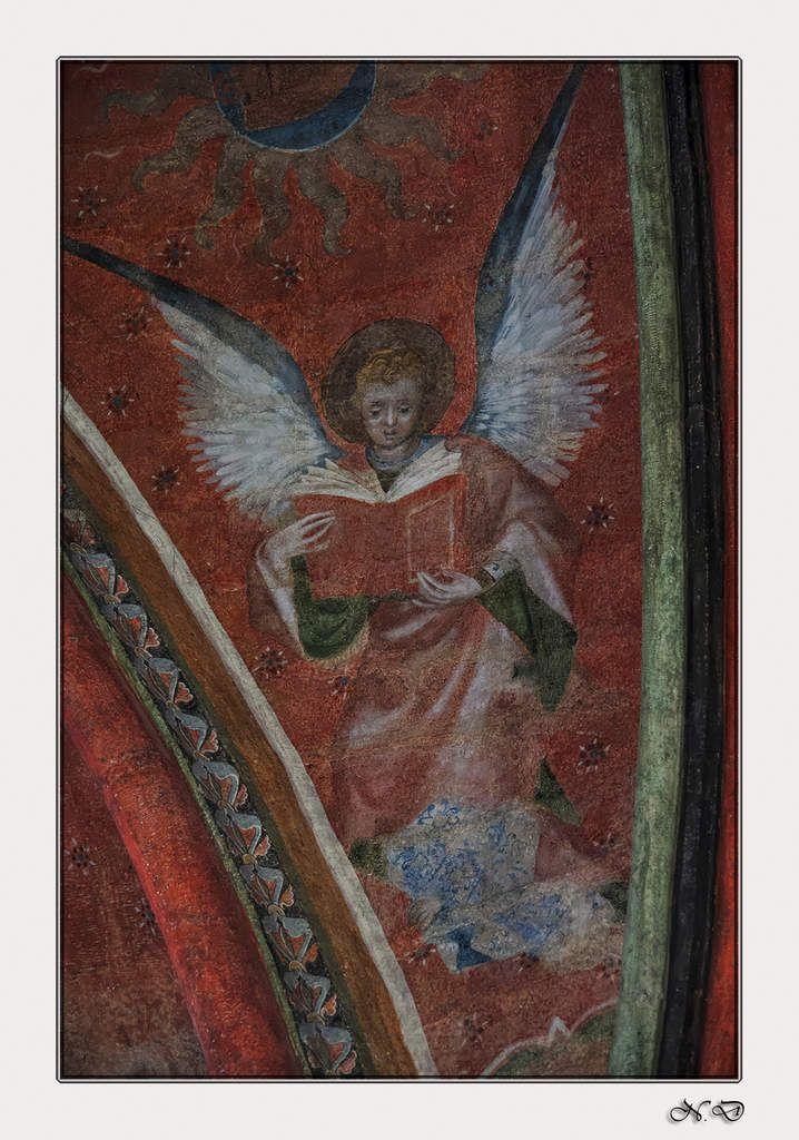 Anges musiciens, peint au cours du (XIVème siècle).