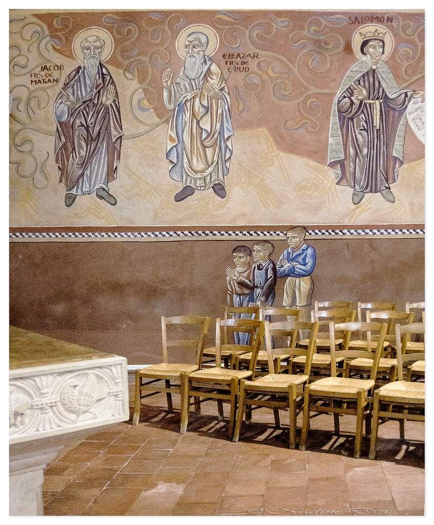 Fresques de Nicolaï Greschny - Eglise Saint-Lazare du Mans.