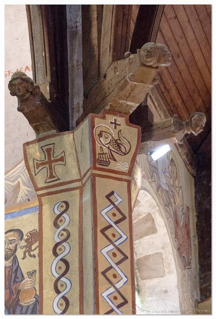 Fresques d'inspiration orthodoxe de Nicolaï Greschny - Eglise Saint-Lazare du Mans.
