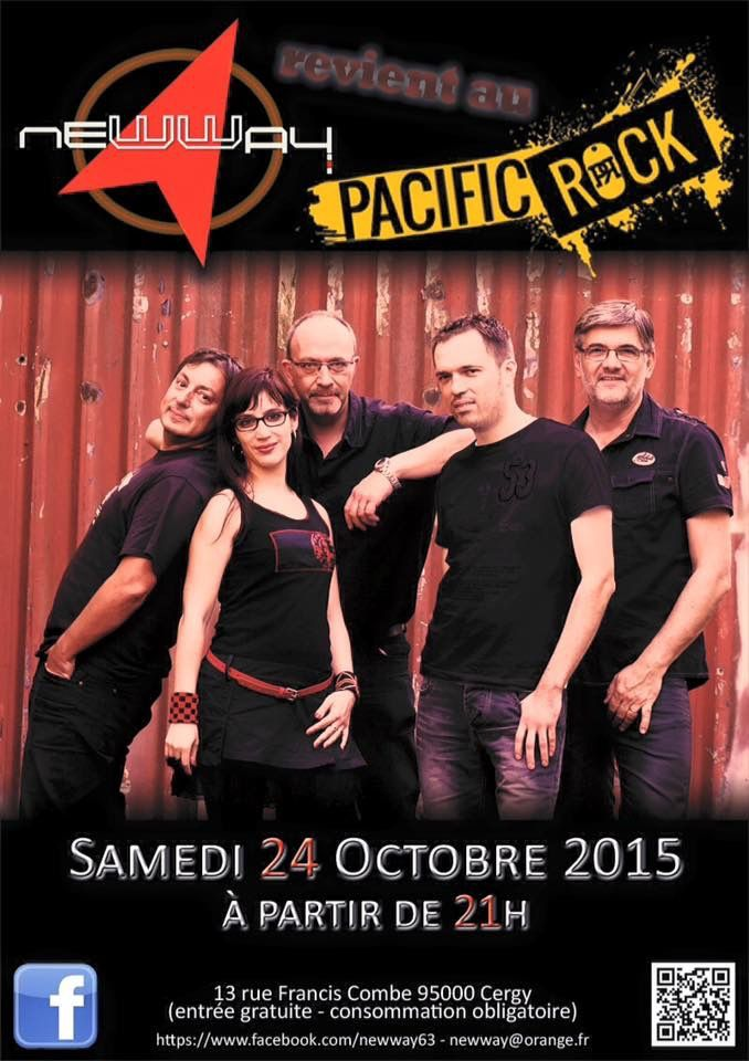 24/10/2015 : CONCERT NEWWAY AU PACIFIC ROCK (CERGY)