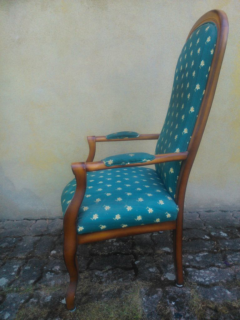 fauteuil style voltaire bleu relook3vous. Black Bedroom Furniture Sets. Home Design Ideas