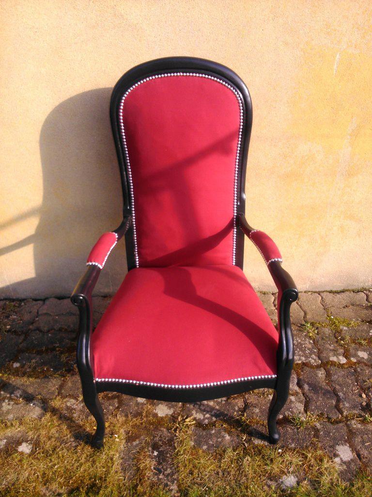 fauteuil voltaire fc metz relook3vous. Black Bedroom Furniture Sets. Home Design Ideas