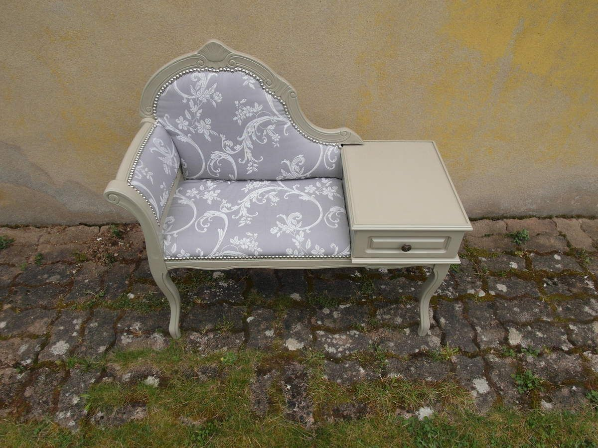 Meuble de t l phone baroque relook3vous for Meuble chaise telephone