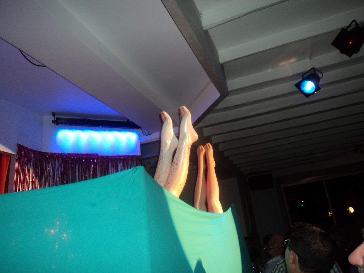 """Pour moi, le clou du spectacle !!! complètement délirant, ballet aquatique derrière un rideau ! les commentaires du maître de scène provoquent des éclats de rire et les deux """"sirènes"""" sont au top de leur forme !! à noter que les spectateurs du bord de scène sont copieusement arrosés !!"""