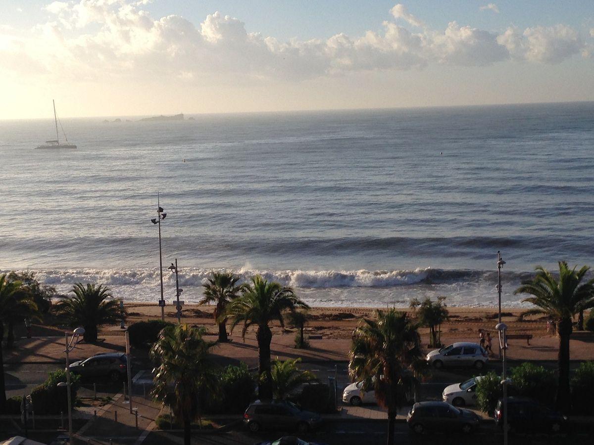La mer s'agite