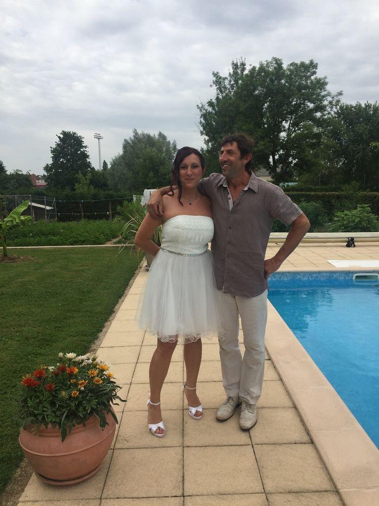 Marie-Pierre et David !! ils se connaissent depuis l'école primaire !!!