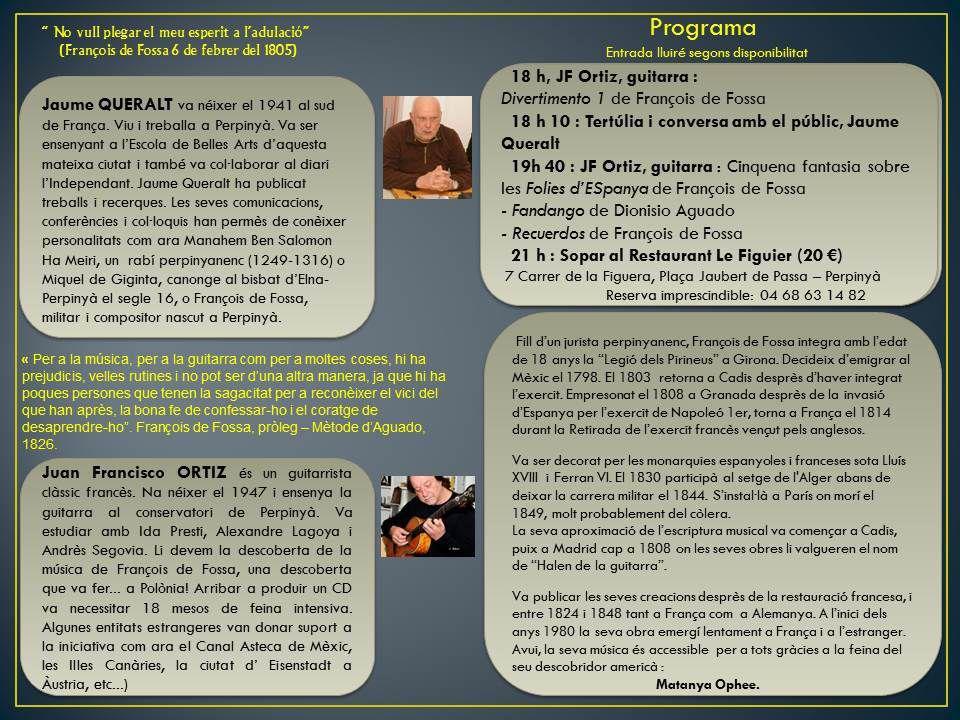 Esdeveniment : Obertura de l'any François de Fossa 2015 - &quot&#x3B;Flyer&quot&#x3B; en Català.
