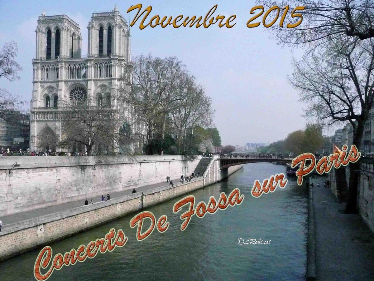 Novembre autour de De Fossa à Paris