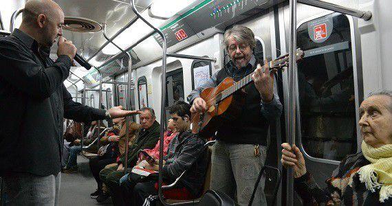 No me verás en el subte: crónica del espectáculo arriba del tren