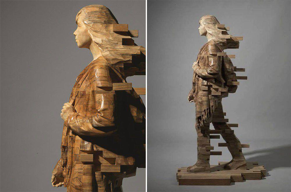 Estilo digital en esculturas fíisicas