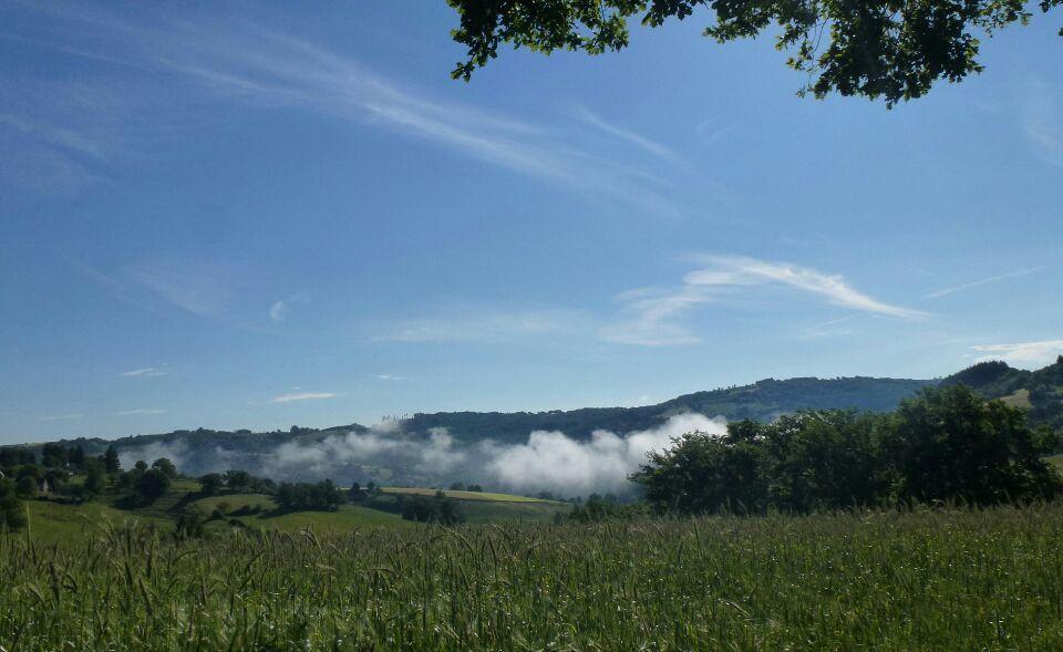 sur le chemin.... et la brume  se dissipa...