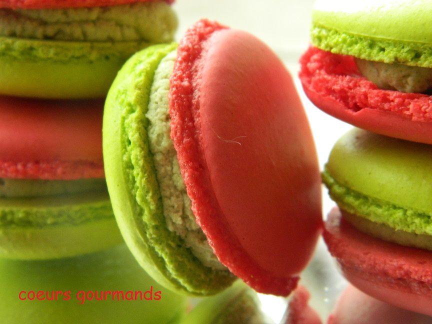 Macarons Pistache framboise