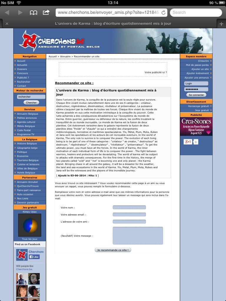 Annuaire blog FR - BE /  Blog directory meilleur blog - compare le net