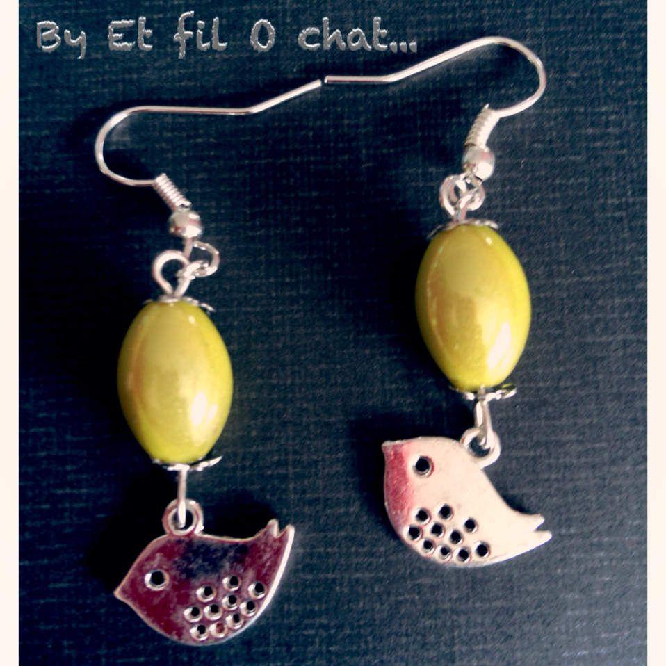 Boucles d'oreilles avec perle: