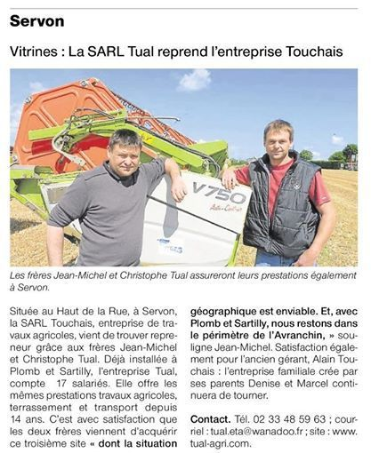 Article Ouest-France 17/07/2014