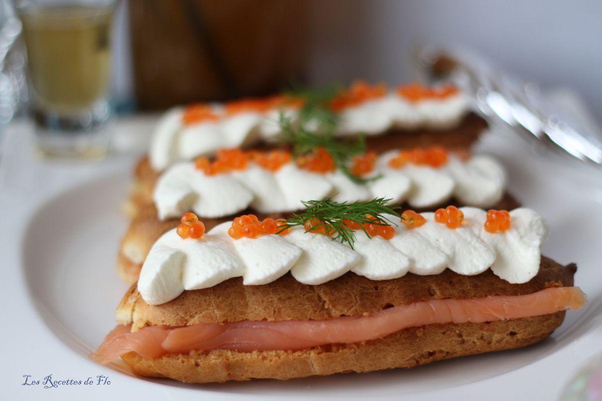 Foodista Challenge # 4 Éclairs au saumon fumé