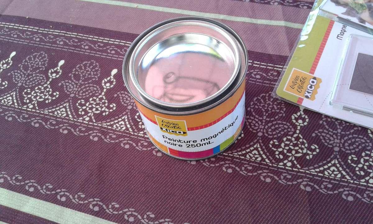 peinture magnetique et magnet personnalisable