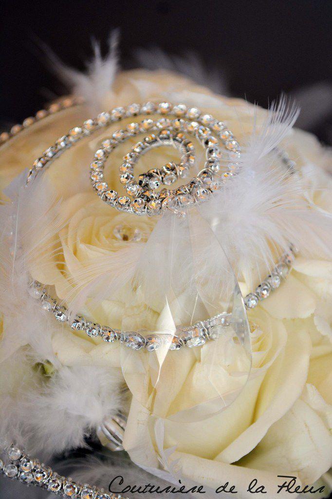 Bouquet de mariée Strass et Plumes