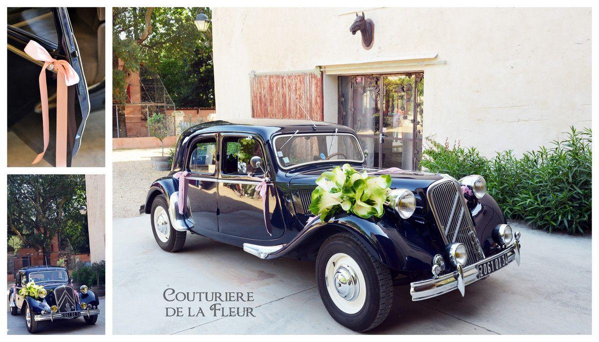 decoration voiture mariage boheme chic