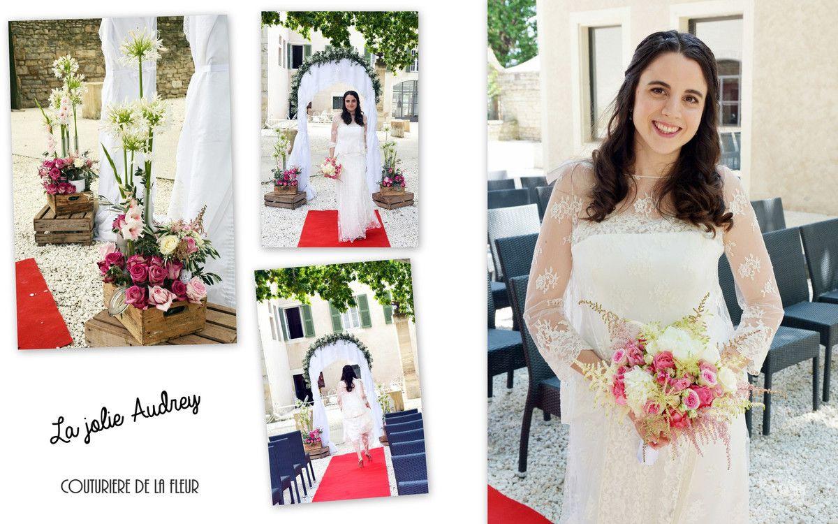 Mariage romantique au Mas Merlet | Fleuriste mariage Nimes