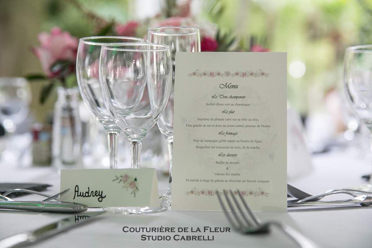 Centres de tables romantiques, dégradé de roses