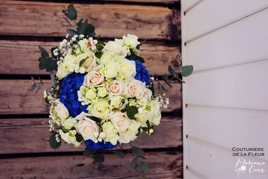 Bouquet de la mariée in blue de Sarah