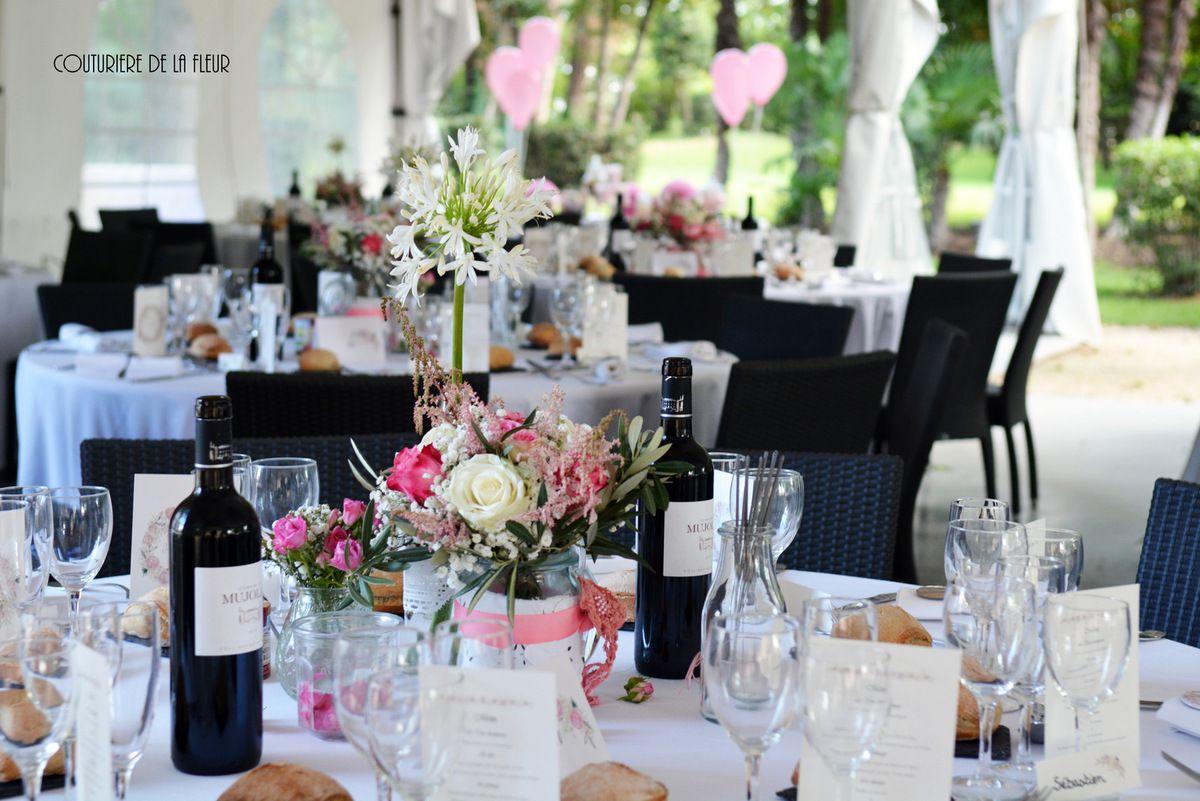 mariage romantique au mas merlet fleuriste mariage nimes ambiance chic fleuriste mariage. Black Bedroom Furniture Sets. Home Design Ideas