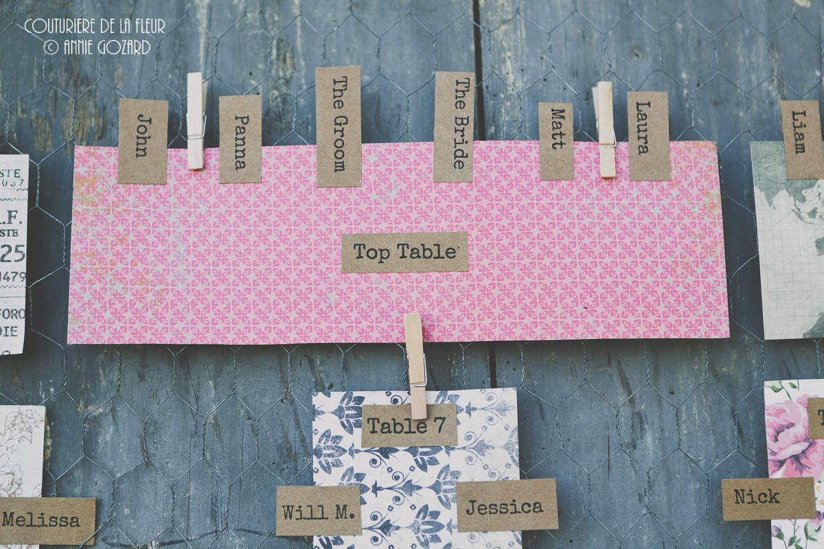 Tables plan (I like it !) and decorative elements