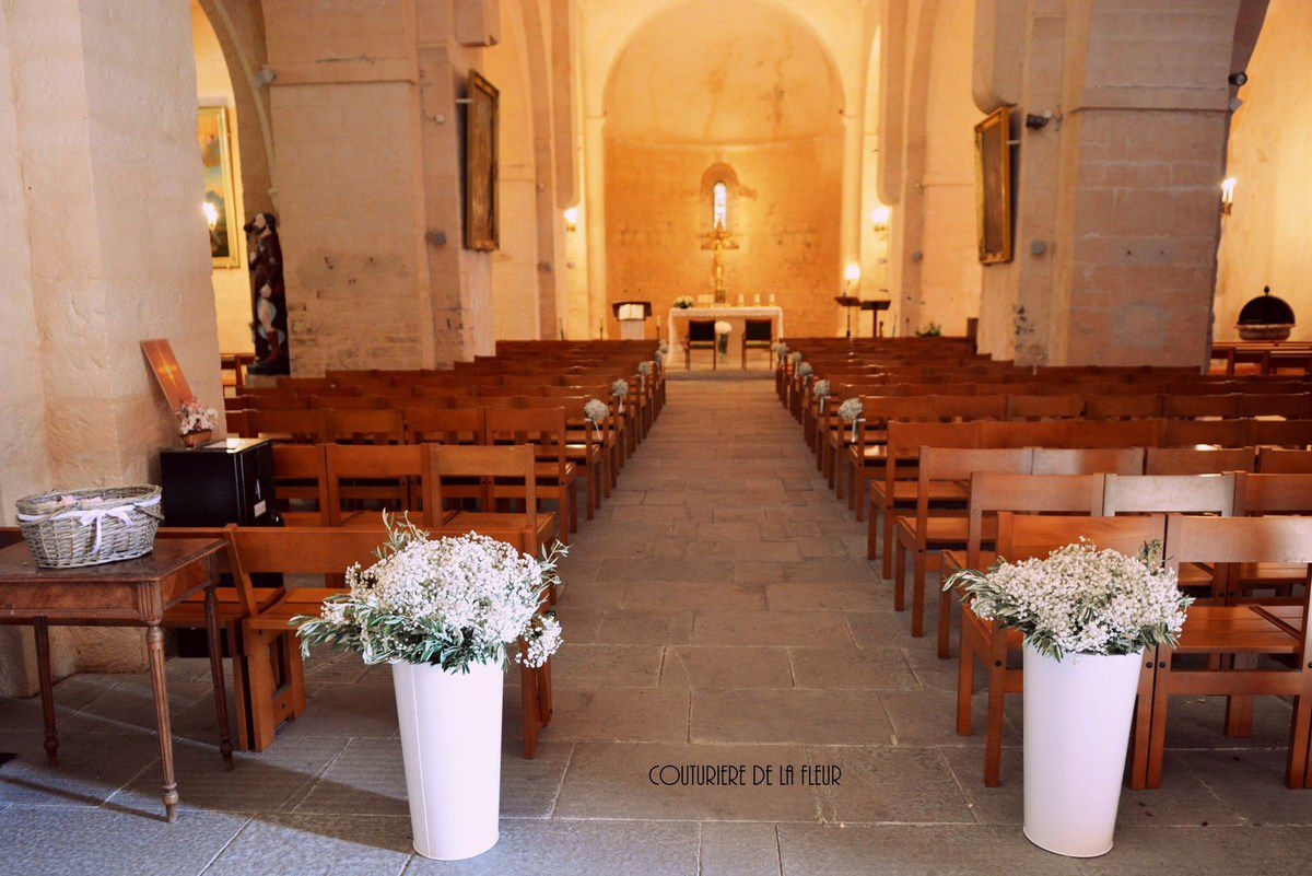 Decoration eglise gypsophile - Decoration eglise mariage ...