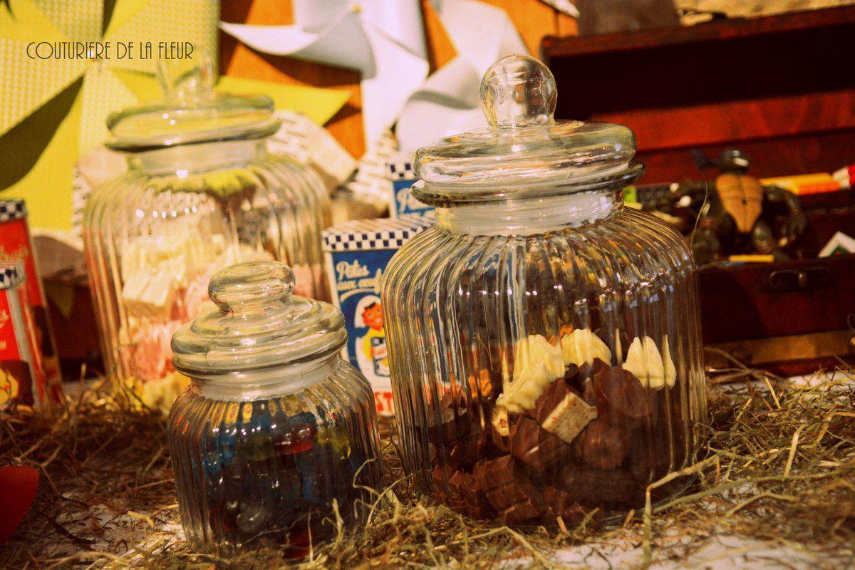 Candy Bar Souvenirs d'enfance #Baràdouceurs #SweetBar #Vintage