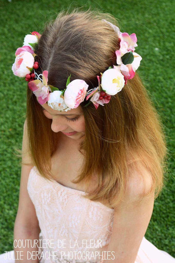 Couronne de fleurs Manon