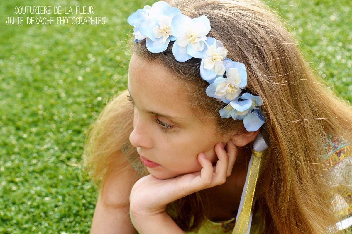 Couronne de fleurs Hortense