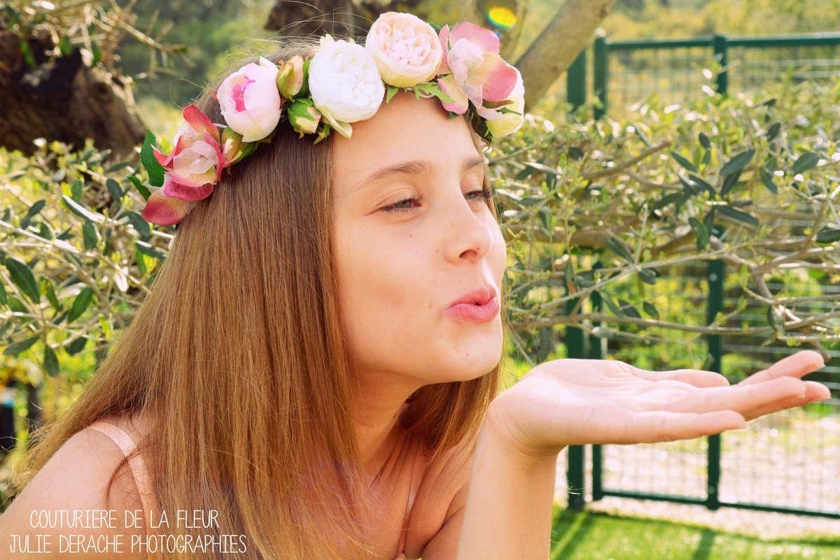 Couronne de fleurs Maria et bracelet Maria