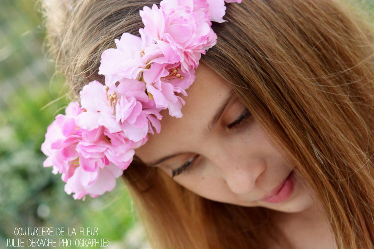 Couronne de fleurs Theyss