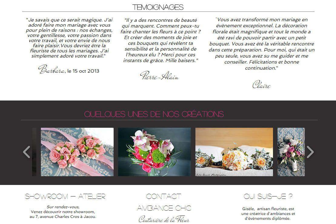 Page d'accueil du site de Couturière de la Fleur !