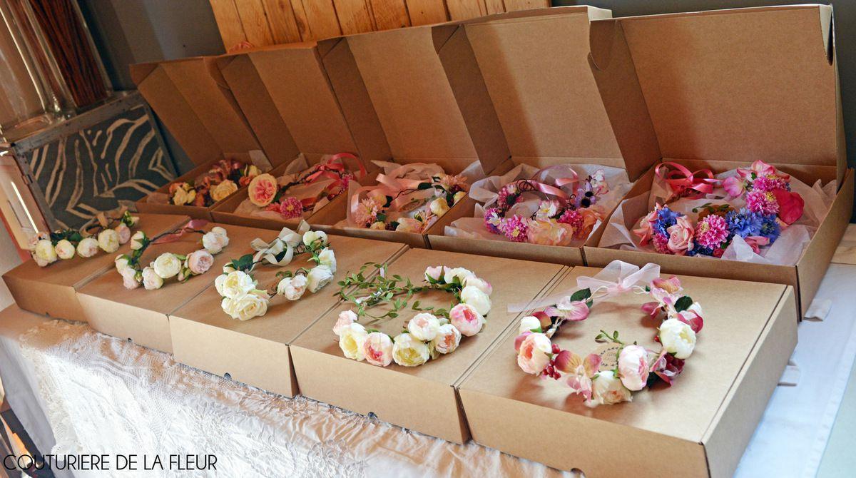 Jolies boites en 2 formats de chez SelfPackaging - idéales pour ranger mes couronnes de mariée et autres accessoires mariage !
