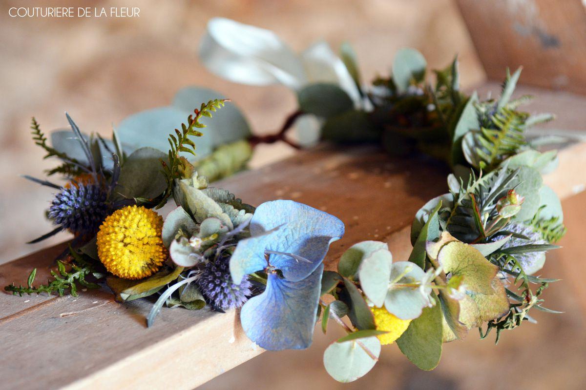 Bouquet de mariée, Bouquets de demoiselles d'honneur, Couronne de mariée et Boutonnière Rustic Chic