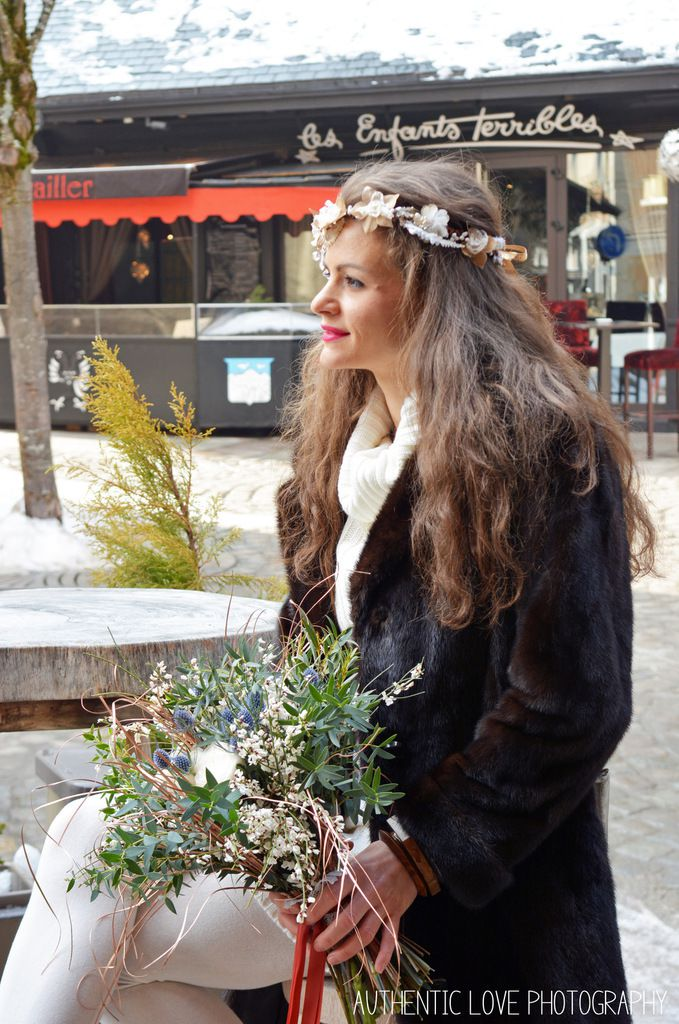 Jolie balade dans Megève avec Laetitia