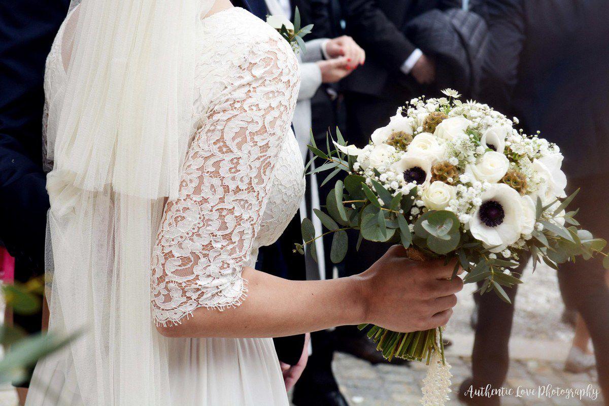 Cérémonie de mariage en hiver