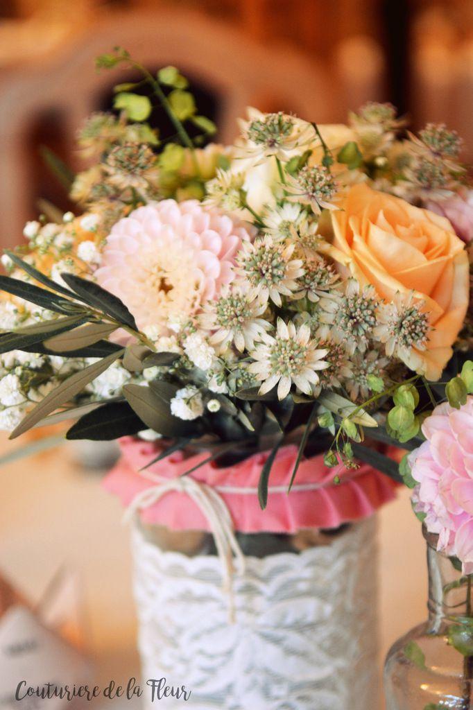 Mariage rose et pêche, un brin liberty au Prieuré de Signan [Vrai mariage]
