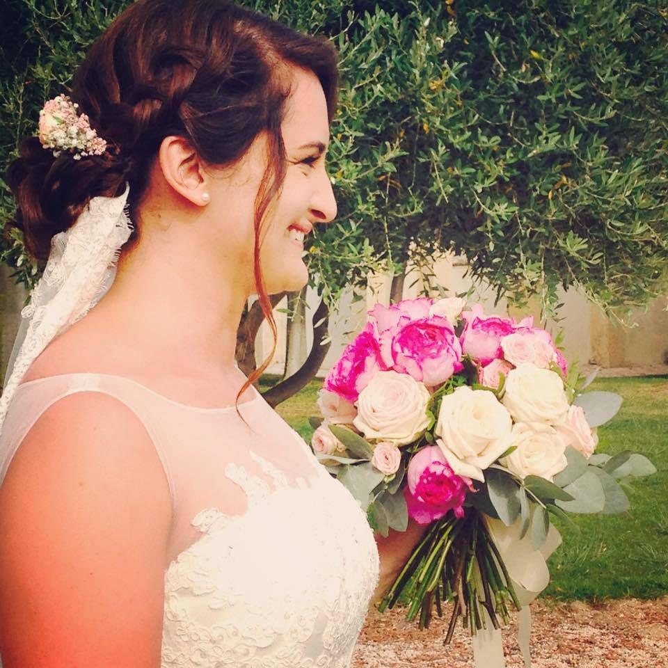 Couronne de fleurs par votre fleuriste Sète
