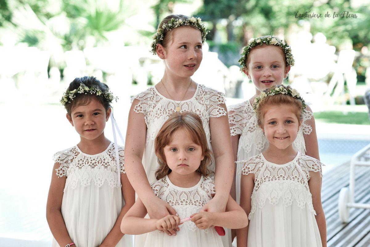 Les petites demoiselles d'honneur de la mariée - #enfant #cortege #mariage